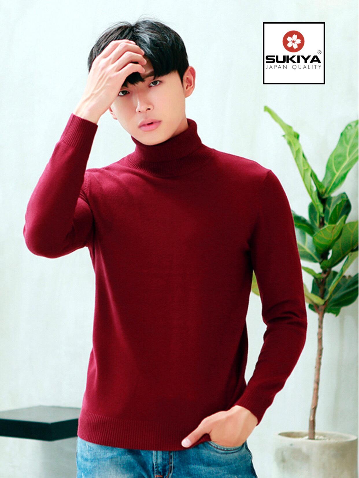 áo len nam cổ lọ thời trang