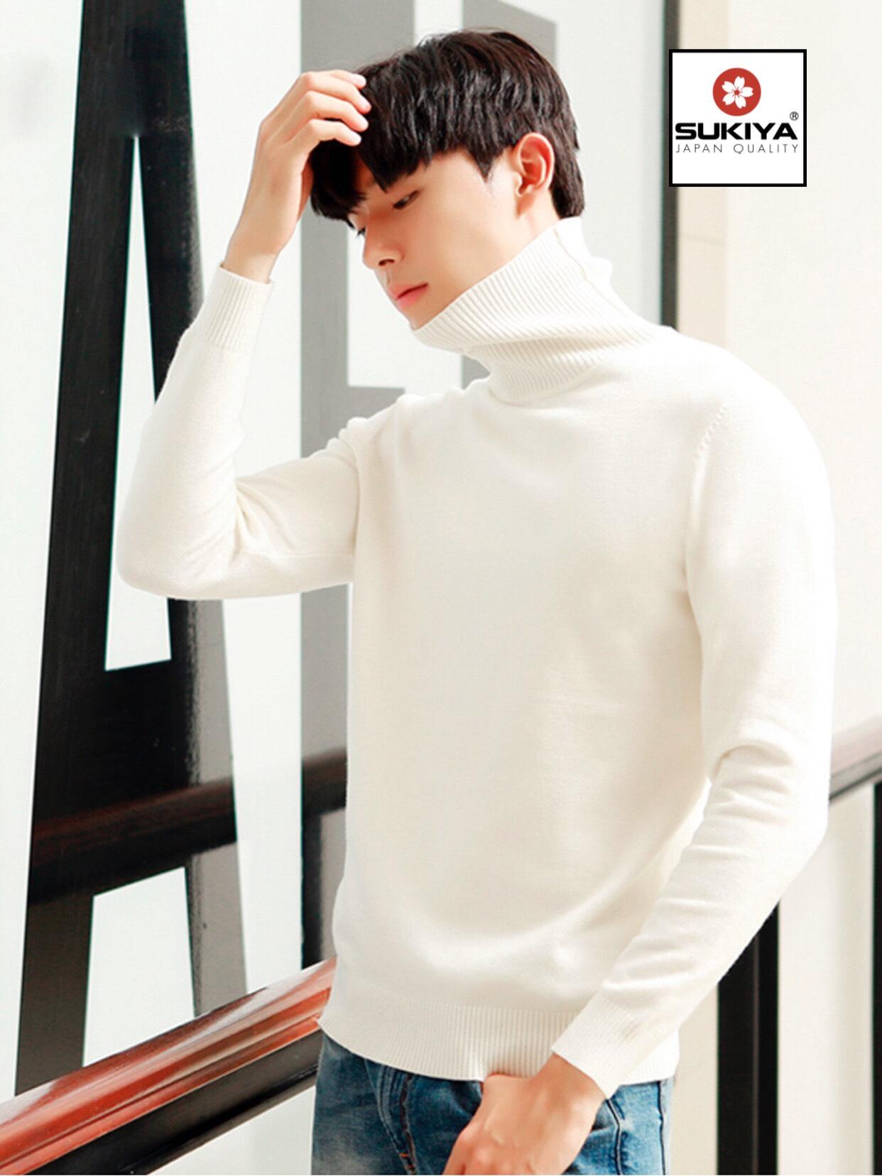 áo len nam cao cổ