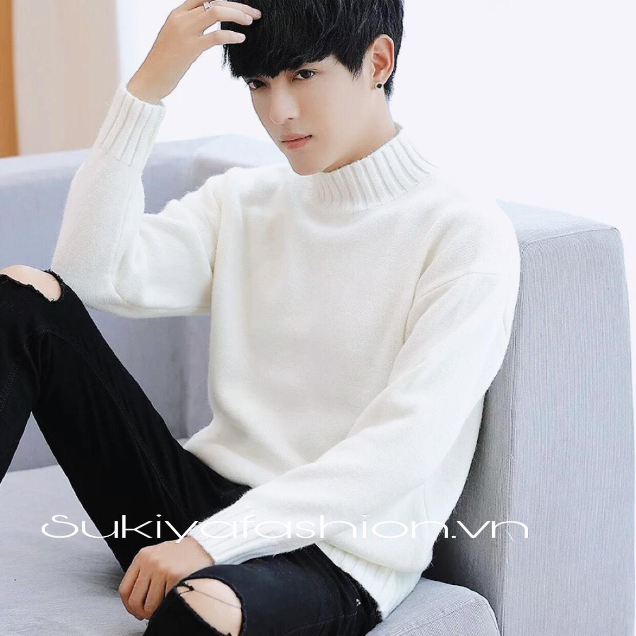 áo len nam cổ cao hàn quốc_sukiya 1