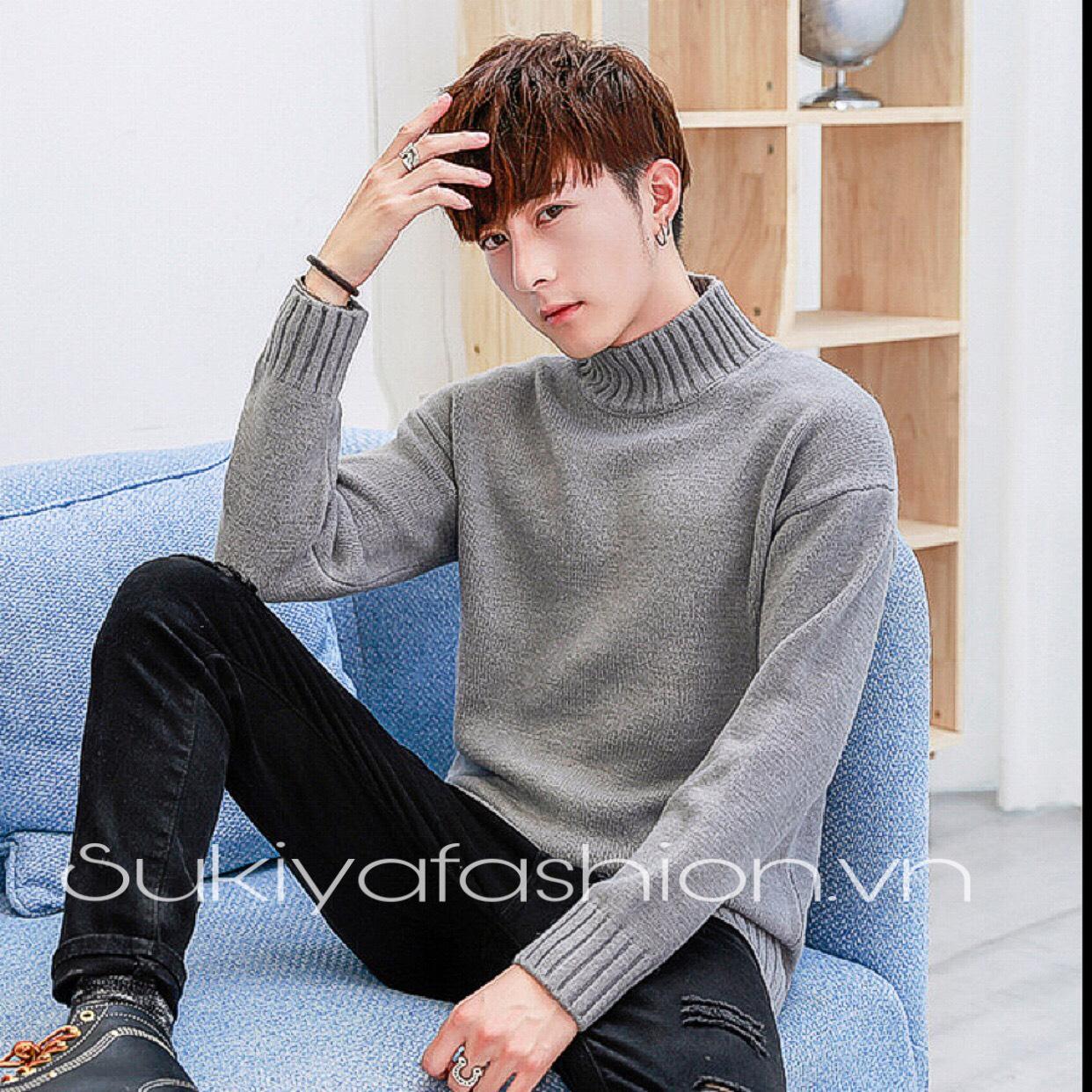 áo len nam cổ cao hàn quốc_sukiya 5