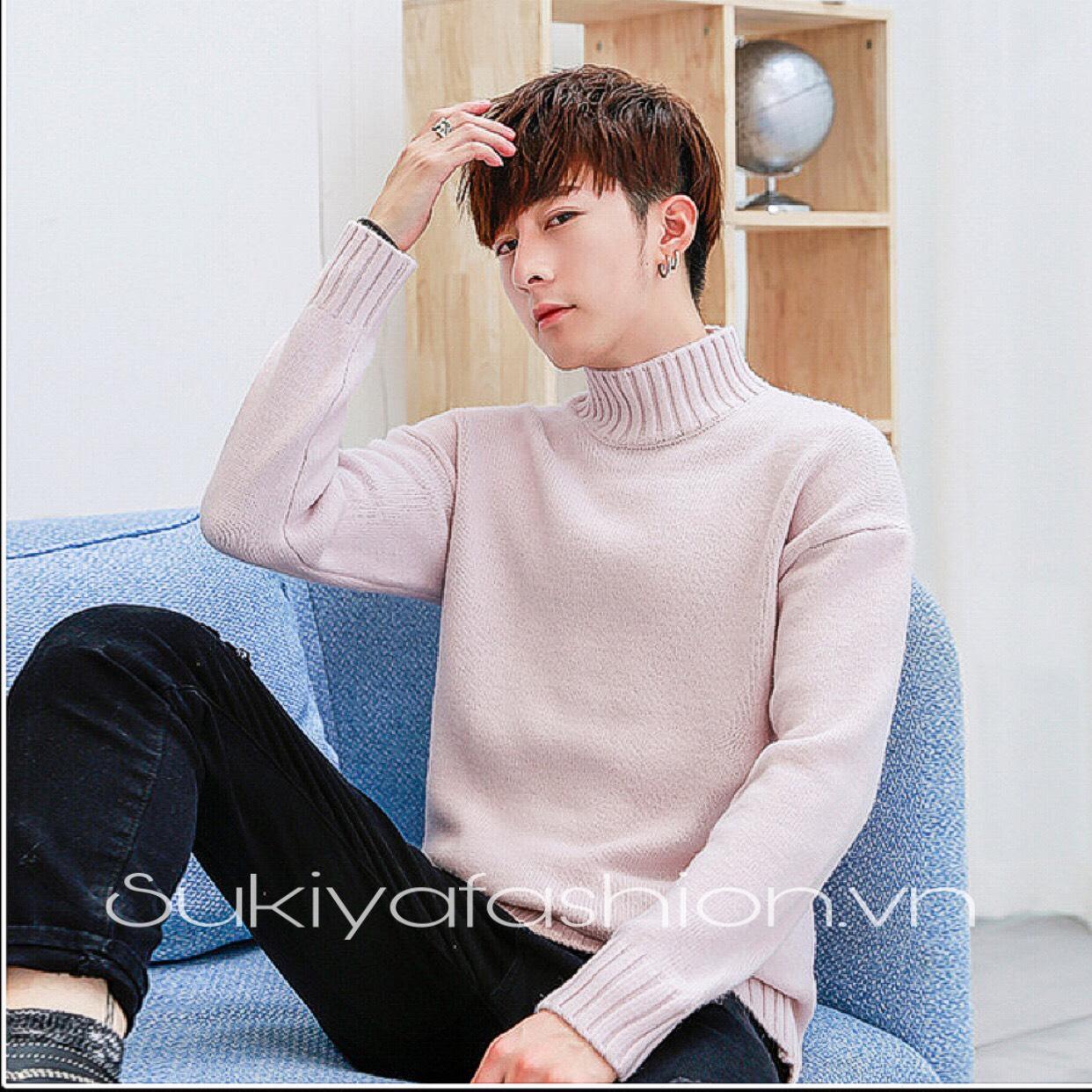 áo len nam cổ cao hàn quốc_sukiya 6