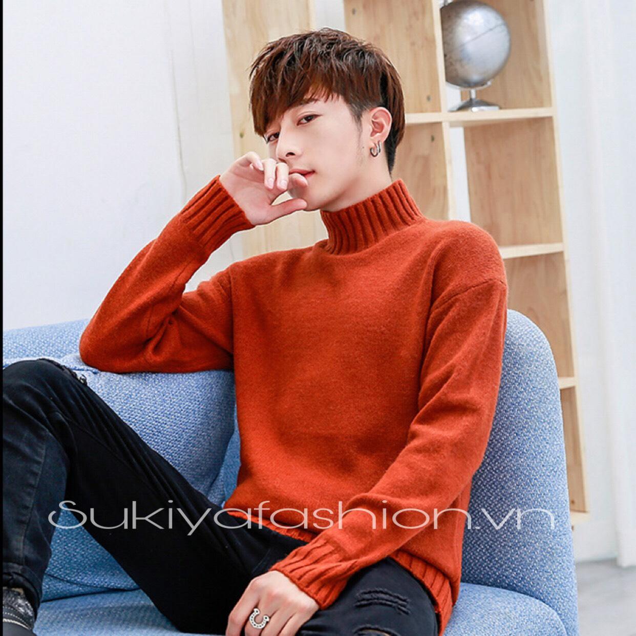 áo len nam cổ cao hàn quốc_sukiya 7