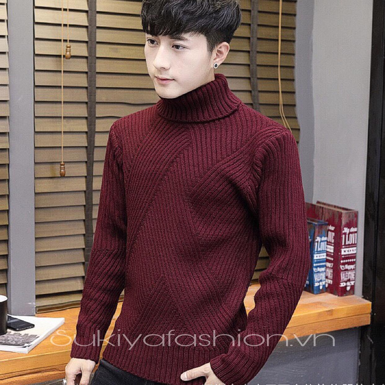 áo len nam cổ lọ chất đẹp sukiya 5