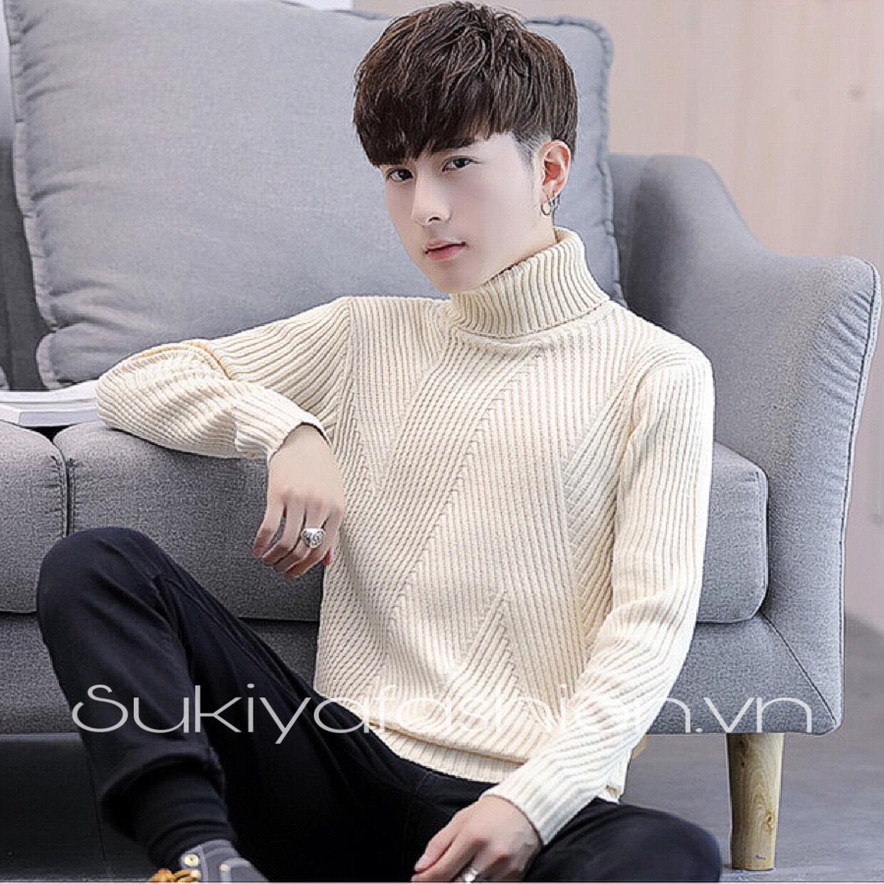 áo len nam cổ lọ chất đẹp sukiya 1